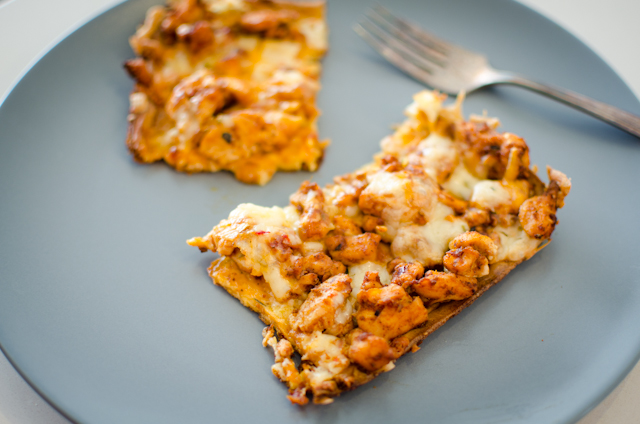 Low-Carb Chicken Taco Pizza